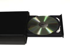 CD in einem geöffneten Tellersegmentlaufwerk Lizenzfreie Stockfotos