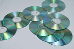 Cd eller DVD-romes för bakgrund Arkivfoto