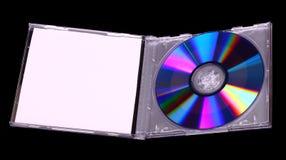 CD em uma caixa plástica Foto de Stock Royalty Free