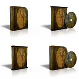 CD en blanco, DVD, modelo del rectángulo del disco Fotos de archivo