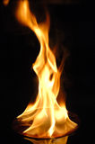 CD en el fuego Imagen de archivo libre de regalías