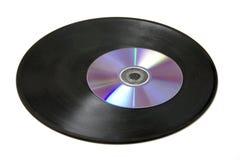 CD en langspeel Royalty-vrije Stock Foto's