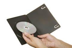 CD en las manos Fotografía de archivo libre de regalías