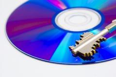 CD en sleutel Royalty-vrije Stock Afbeeldingen