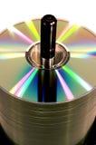 Cd en un eje de rotación Imágenes de archivo libres de regalías