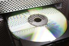 CD en unidad de discos del ordenador Imagenes de archivo