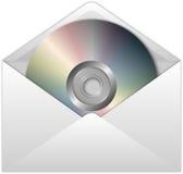 CD in envelop Royalty-vrije Stock Afbeeldingen