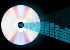 CD and Equalizer. Illustration - Compact Disc and Blue Graphic Equalizer / Vector royalty free illustration