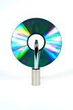 CD et blocage Image libre de droits
