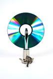 CD et blocage Photos stock