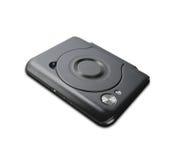 CD externo delgado portátil aislado imagen de archivo libre de regalías