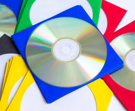 CD för CD/DVD, kuvert för skivor Royaltyfria Bilder