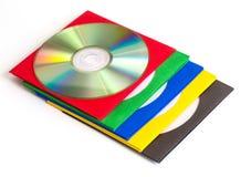 CD för CD/DVD, kuvert för skivor Arkivfoto