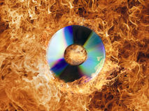 CD on Fire Stock Photos