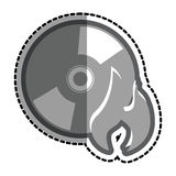 Cd with flame icon Royalty Free Stock Image