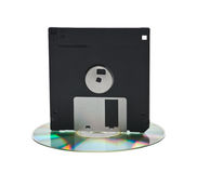 CD and floppy disk Stock Photography