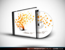 CD Flourish Cover Design with 3D Presentation Temp Royalty Free Stock Photos