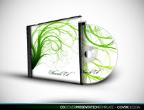 CD Flourish Cover Design With 3D Presentation Temp Stock Photo