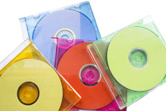 CD, in geboxt lizenzfreie stockfotografie