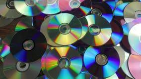 CD geworfen in Stapel stock footage