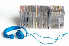 cd hörlurar Arkivbild
