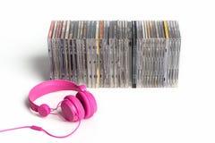 cd hörlurar Fotografering för Bildbyråer