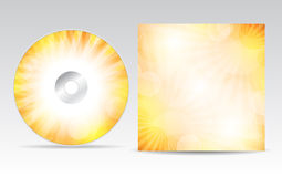 CD-Hüllen-Design Stockbild