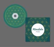 CD-Hüllen-Design mit abstraktem Geometriemuster floral stock abbildung