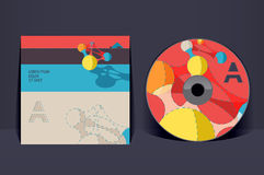 CD-Hüllen-Designschablone Stockfotos