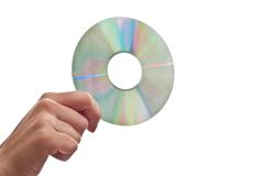 Cd in hand Stock Images
