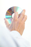Cd_in_hand Foto de Stock Royalty Free