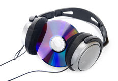 Cd and headphone Stock Images