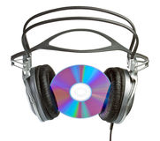 CD headphones Stock Photo