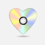 CD-heart. Creative Valentine heart in shape CD.Vector eps10 Stock Photography