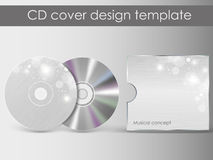 CD-het ontwerpmalplaatje van de dekkingspresentatie Stock Foto's