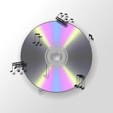 CD-Hintergrund mit musikalischen Anmerkungen vektor abbildung