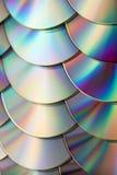 CD i DVD dane tło Zdjęcia Stock