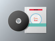 cd i muzyczne książki na szarym tle Zdjęcia Royalty Free