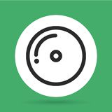 cd icon. Music and Sound design. Vector graphic Royalty Free Stock Image
