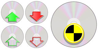 CD Icons Royalty Free Stock Images
