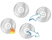 CD Icons. Four typical CD/DVD Icons royalty free illustration