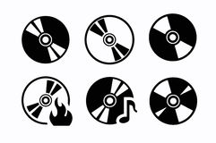 CD icons. This is file of EPS10 format Royalty Free Stock Photo