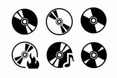 CD-Ikonen Lizenzfreies Stockfoto
