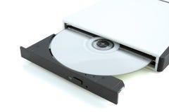 Cd inserito in una ROM cd Fotografia Stock