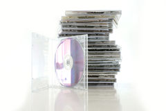 CD inzameling Stock Foto
