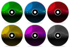 CD Inzameling 5 van de Schijf Royalty-vrije Stock Afbeeldingen