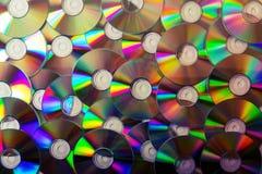 CD-inzamelingsachtergrond Royalty-vrije Stock Foto