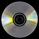 CD. Isolated on black background Royalty Free Stock Image