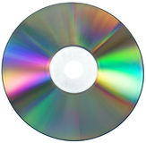 Cd isolated on white. Clopse-up of a cd isolated on white Royalty Free Stock Images