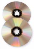 CD isolato su priorità bassa bianca Fotografie Stock Libere da Diritti